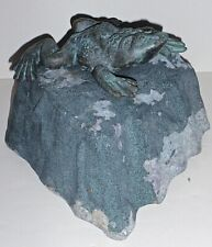 Vintage Virginia Metalcrafters Frog on Rock Fountain,  A Rare Find!