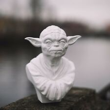 Yoda Bust Statue, plaster, 24 cm (9.5 in) high, Star Wars, handmade