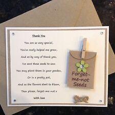 Thank You Poem Gift Magnet. Pre-school Nursery Teacher Assistant Christmas (Gre)
