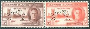 "LEEWARD ISLAND 1948 PEACE ISSUE. PERFORATED ""SPECIMEN"" M/ MINT"