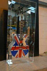 Guitar Display Case Wall Mounted Acrylic/Perspex/Plexiglass