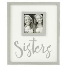 "Mud Pie Home Wood Plank ""Sisters"" Photo Frame Holds Picture"