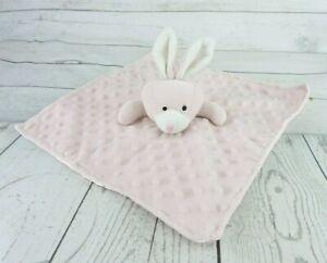 Bunny Rabbit Lovey Security Blanket Minky Dot Elegant Baby Soft 12x12 Pink Girl