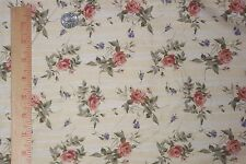 Marcus Brothers Textiles Roses Yellow Background Vintage Cotton Fabric 1.75 yd