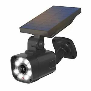 Solar Powered Security Light Camera Outdoor with Motion Sensor, IP65 Waterproof