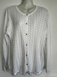 Beautiful, Quality White Cardigan By Isle at EWM. Size  18. Ex condition