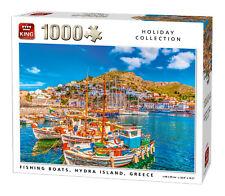 1000 piezas Holiday Puzle Rompecabezas Pesca Barcos HYDRA Island GRECIA Canal