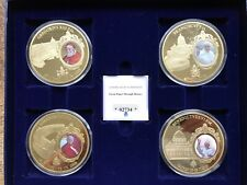 More details for 2011 set of 4 great popes through history coins + case