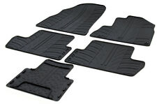 High Quality Black Rubber Tailored Car Mats - Peugeot 3008 (2008-2016) + Clips