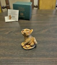 New ListingHarmony Kingdom Orange Crush Tiger Cub Marble Resin Box Figurine Tjti2