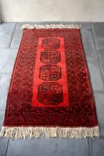 Vintage Asian Wool Rug Carpet Deep Thick Pile Handmade