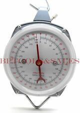 660 lbs Spring-Dial Hoist Scale Hang Up Scale Dial Weight Accurate Produce Food