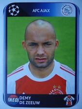 Panini 456 Demy de Zeeuw Ajax Amsterdam UEFA CL 2010/11