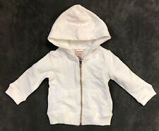 NEW TRUE RELIGION BABY INFANT WHITE HOODIE ZIP JACKET SZ 6-12M