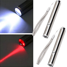 2Pcs Red Laser Pointers 500Miles Mini 2in1 650nm Beam Astronomy Aa Lazer Pen