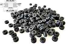 "Lot of 1,000 Rubber Grommets 3/16"" Inside Diameter - 1/16"" GW - Fits 5/16"" Holes"