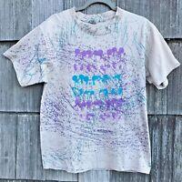 Vintage Disney T-Shirt 90's All Over Print Splatter USA L AOP Acid Rap Rare