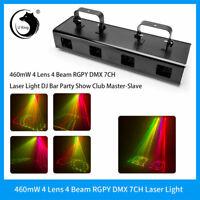 460mW RGYV 4  Lens DJ LED DMX Laser Stage Light Party Light Projector Disco Show