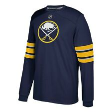 Buffalo Sabres NHL Adidas Men's Navy Blue Authentic Jersey Long Sleeve Shirt
