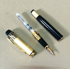 HERO 901 Medium Nib Fountain Pen Luxury Black & Gold Stainless
