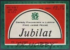 Poland Brewery Lublin Jubilat Beer Label Bieretikett Etiqueta Cerveza lu26.1
