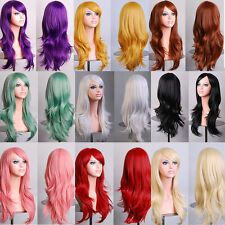 New 70CM High Temperature Cosplay Long Curly Synthetic Fiber Hair Wig 13 Choices