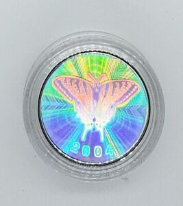 Canada 2004 50 Cent Hologram Tiger Swallowtail Butterfly Silver Proof Coin