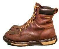 Cabela's Men's Moc Toe Roughneck Brown Leather Work, Casual Boots Sz. 9.5-D
