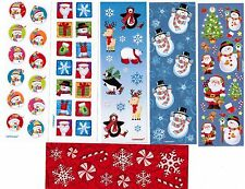 6 Small Sheets Christmas Winter Stickers! Snowman Snowflakes Candy Cane Santa