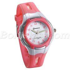 Student Boys Girls Candy Color Arabic Numberals Waterproof Quartz Wrist Watch