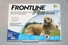 Frontline Plus Merial BLUE 3 Medium Dogs 23-44lbs THREE Doses Flea Tick NEW