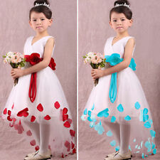 Unbranded Girls' Cotton Blend Sleeveless Formal Dresses (2-16 Years)