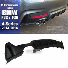 M Performance Style Rear Single Diffuser Cover For BMW 2014-16 4 Series F32 F36