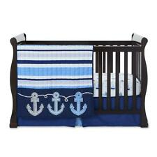 Tender Kisses Reversible Comforter Fitted Crib Sheet Skirt Nautical Anchor Sail