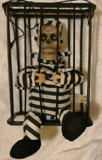 Cage Prisoner Halloween Animated Skeleton