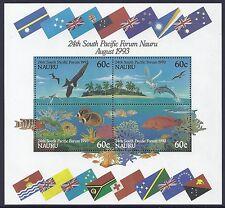 1993 NAURU 24th SOUTH PACIFIC FORUM MINISHEET FINE MINT MUH/MNH