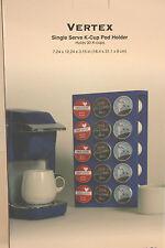 K Cup Holder VERTEX Single Serve Coffee Carousel  30 ct~ Milano Series Blue