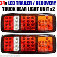24V LED 5 CHAMBER REAR TAIL LIGHTS FOR TRUCK LORRY TRAILER TIPPER CARAVAN PAIR