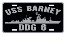 USS BARNEY DDG 6 License Plate Signs USN Military 001