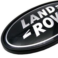Land Rover Defender black+Silver Oval rear badge SVX new 90 110 series 1 2 3 III