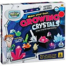 Make Your Own Growing Crystals with LED display & AG13 button cell batteries