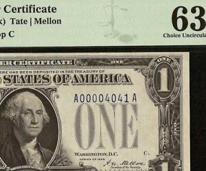 1928 $1 DOLLAR LOW # 40 41 SILVER CERTIFICATE FUNNYBACK NOTE PAPER MONEY PMG 63