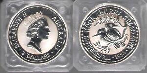 "1994 Australia 2 Dollars "" the Australian Kookaburra "" 2 OZ Silver 999 FDC"