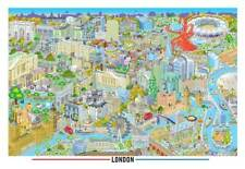 LONDON 2 Beautiful contemporary illustrated map, limited edition of 150