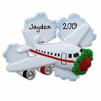"Personalized "" AIR PLANE "" Christmas Hanging Tree Ornament HOLIDAY GIFT 2020"