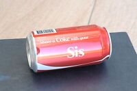 COCA COLA factory error unopened empty can,  limited 2011 Share a Coke Campaign