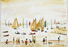 Framed LS Lowry Print – Yachts (Picture Painting English Artist Artwork Boating)