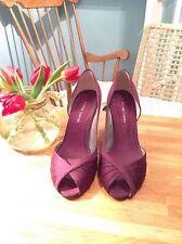 BNIB Roland Cartier Purple Peep Toe Satin fabric Heels Size 6 / 39