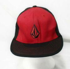 FLEXFIT Volcom Stone Adult Hat Cap S/M Small to Medium Red Black Flex