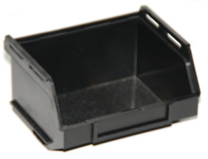 PB15-ECO Small Black Recycled Plastic Storage Bin Pack of 10